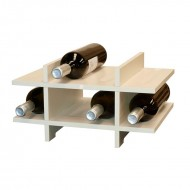 Pequeña Estantería Botellero en madera de 2 Colores para 8 Botellas