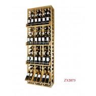 Expositor botellero profesional EX2073 en madera 120 botellas /24 marcas