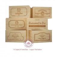 Kit de 6 cajas/6 botellas Logos variados|GR1606