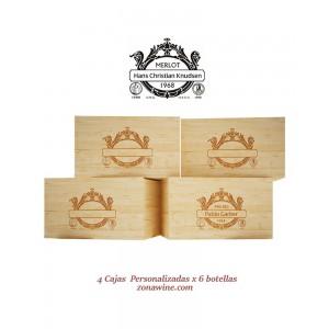 Pack de 4 Cajas rusticas...
