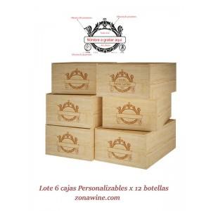 Pack de 6 Cajas rusticas...