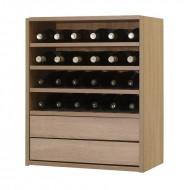Organizador de vino con baldas y extraíbles|Serie Malbec EX7242