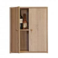 Armario Botellero vinos y licores con puerta y balda | EX7245 Serie Malbec