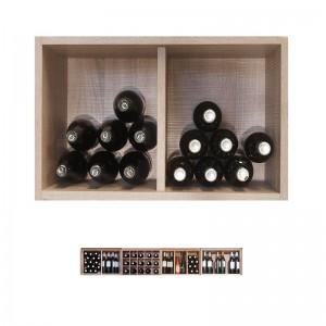 Pequeño botellero división vertical 20 botellas |EX7102 Serie Malbec