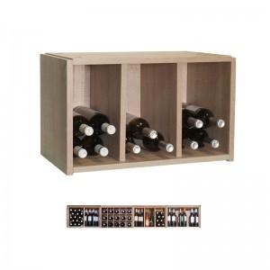 Pequeño Botellero 3 Divisiones 24 botellas|EX7103 Serie Malbec