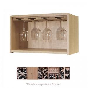Pequeño estante con soporte para 12 Copas de vino | Serie Malbec EX7121