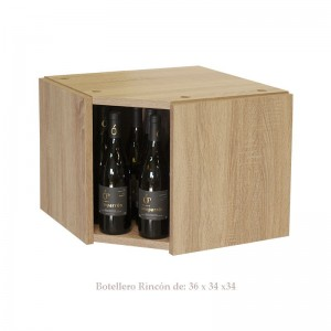 Pequeño Botellero rincón Serie Malbec hasta 24 botellas|EX7125