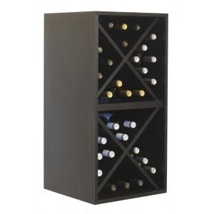 Botellero Cubo Doble  para 32 botellas en Negro|EX6216 Serie Merlot