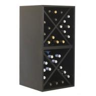 Botellero Cubo Doble  para 32 botellas en Negro EX6216 Serie Merlot
