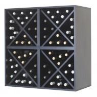 Cuadro botellero estantería para 64 botellas en negro|EX6416 Serie Merlot