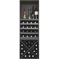 Estantería botellero para vinos y licores en negro |BL6321