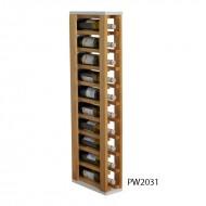 Botellero moderno combinado pino y blanco para 10 botellas|PW2031