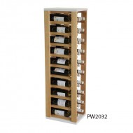 Botellero en madera de pino bicolor para 20 botellas |PW2032