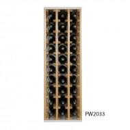 Botellero Moderno en Pino y blanco combinado 30 botellas PW2033