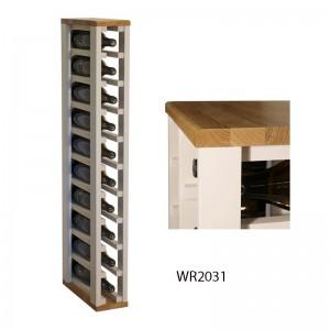 Botellero moderno combinado pino y roble para 10 botellas|WR2031