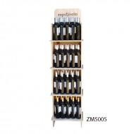 Expositor PRO para vinos y gourmet 80 botellas|CM5005 Personalizable