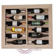 Botellero expositor pared 12 botellas de vino o cava|ER9315