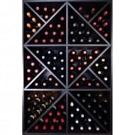 Armario Botellero Negro con divisiones interiores 124 Botellas|EX8140