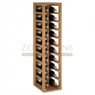Botellero modular para 20 botellas de vino en madera de pino teñido color roble - foto 2