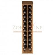 Botellero modular para 20 botellas de vino en madera de pino teñido color roble - foto 3