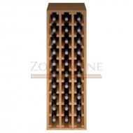 Botellero modular para 30 botellas de vino en madera de pino teñido color roble - foto 3