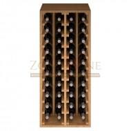 Botellero modular para 40 botellas de vino en madera de pino teñido color roble - foto 3