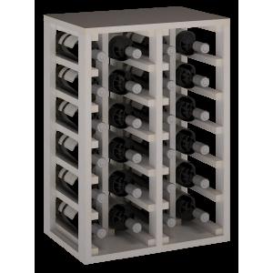 Botellero en madera de Pino pintada Blanca para 24 Botellas