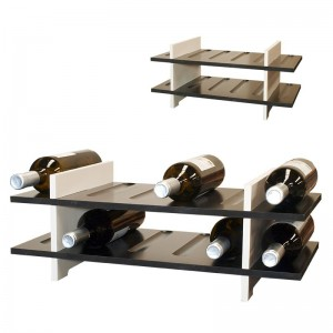 Estantería botellero de cocina en madera de colores para 12 botellas|PV6112