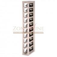 Botellero modular para 10 botellas de vino en madera de pino pintado en blanco - foto 1