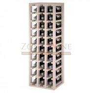 Botellero modular blanco 3 x10 en pino de 10 a 60 botellas|Godello EW2033