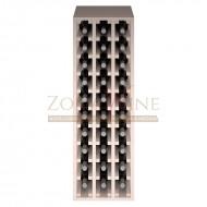 Botellero modular para 30 botellas de vino en madera de pino pintado en blanco - foto 3