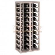 Botellero modular Blanco 4 x10 en pino Godello de 10 a 60 botellas|EW2034