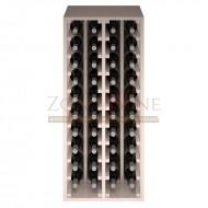 Botellero modular para 40 botellas de vino en madera de pino pintado en blanco - foto 3