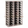 Botellero modular para 60 botellas de vino en madera de pino pintado en blanco - foto 2