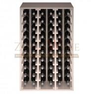 Botellero modular para 60 botellas de vino en madera de pino pintado en blanco - foto 3