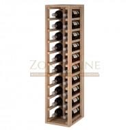 Botellero modular para 20 botellas de vino en madera maciza de roble - foto 1