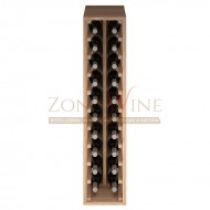 Botellero modular Godello 2 x 10 en roble de 10 a 60 botellas|ER2032