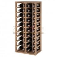 Botellero modular para 40 botellas de vino en madera maciza de roble - foto 1