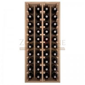 Botellero modular para 40 botellas de vino en madera maciza de roble - foto 3
