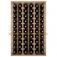 Botellero modular para 60 botellas de vino en madera maciza de roble - foto 3