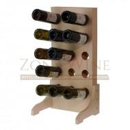 Botellero blanco vertical para 15 botellas de vino o cava|EW5415