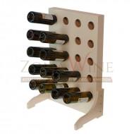 Mueble botellero blanco para 20 botellas de vino o cava|EW4520