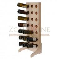 Botellero vertical madera blanca 21 botellas vino o cava|EW4521