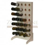 Botellero de madera para 28 botellas en color blanco|EW4528