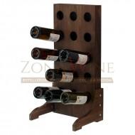 Botellero vertical para vino y cava en color nogal para 15 botellas |EX4515