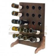 Botellero vino en color nogal para 20 botellas