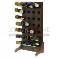 Botellero vino para 28 botellas en madera color nogal