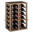 Botellero en roble para 24 botellas casa o bodega-ER2014