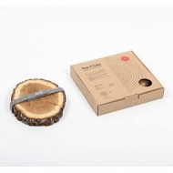 Bajoplato en madera natural de Roble (Caja regalo con 2 unidades)