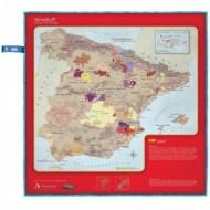 Paño de Microfibras, especial para limpiar copas de vino, grabado con las Denominaciones de Origen de España